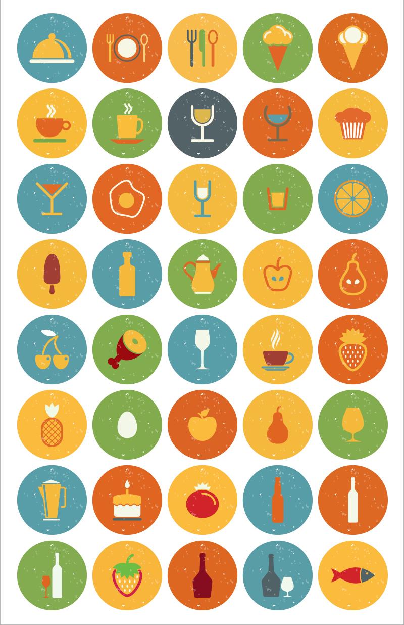 35+ icons về đồ ăn và đồ uống