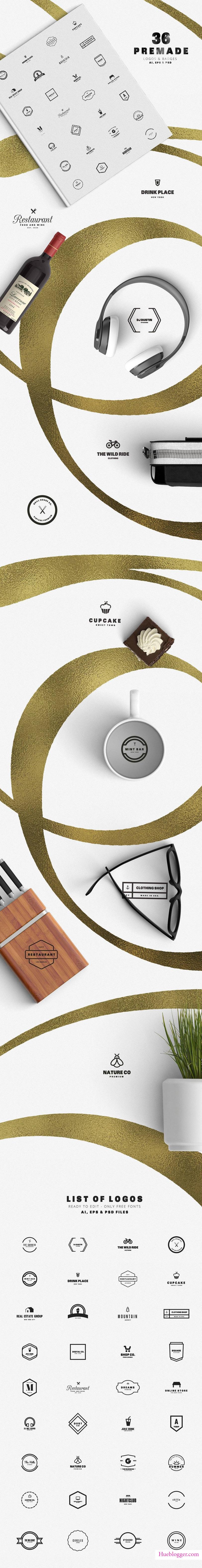 Bộ template thiết kế logo cho designer