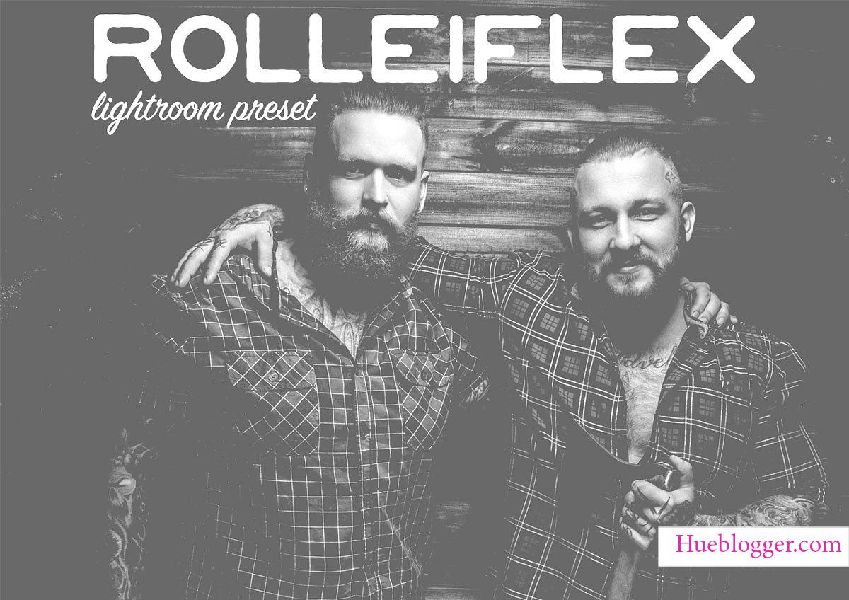Bộ Rolleiflex lấy 2 tông màu trắng và đen làm chủ đạo