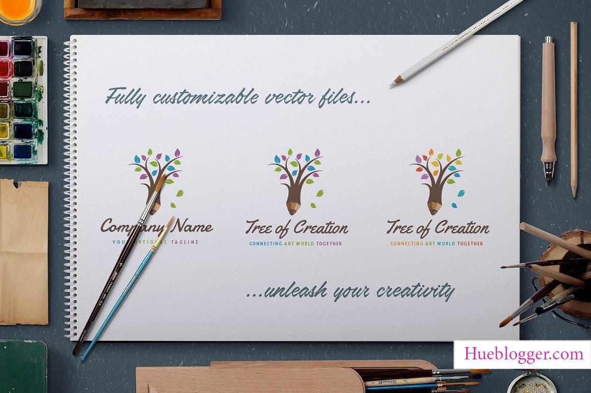Bộ vector logo cây cối cực kỳ sáng tạo