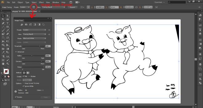 Hướng dẫn cách chuyển hình vẽ tay thành vector trong Illustrator