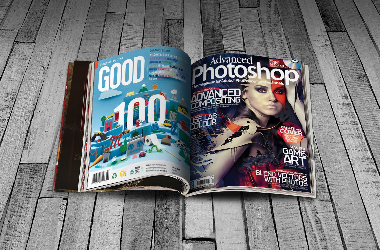 Bản mock-up thiết kế tạp chí miễn phí