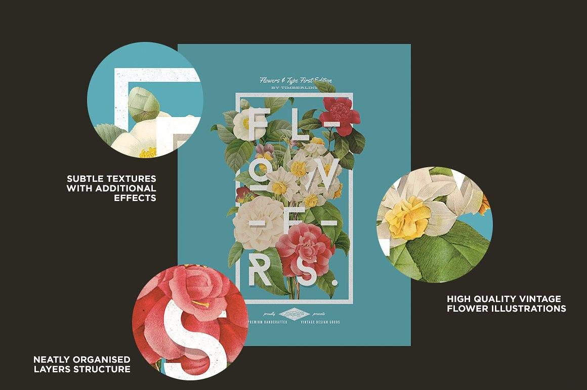 5 PSD lồng chữ vào hoa đơn giản nhanh chóng