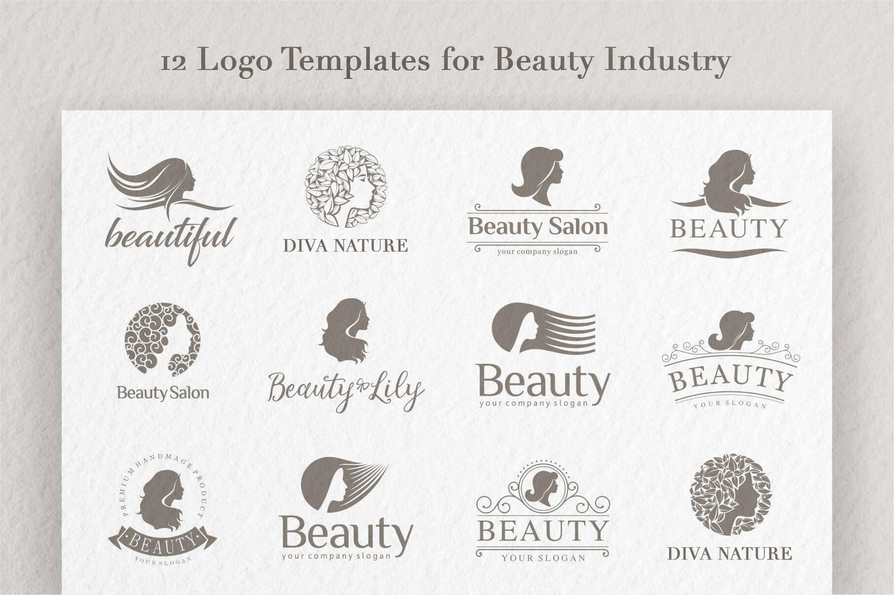 Tổng hợp các mẫu logo làm đẹp cực chất cho designer
