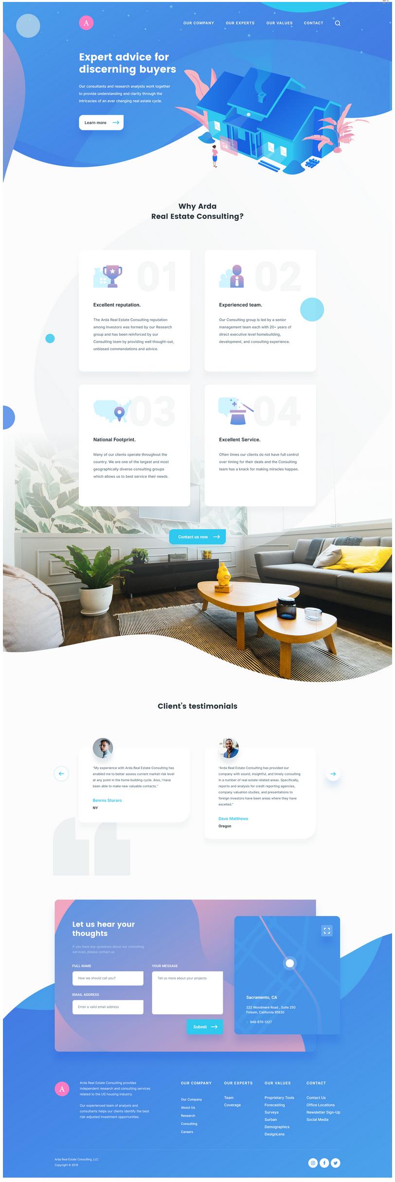 Bộ PSD thiết kế Landing Page đơn giản cho website bất động sản Bộ PSD thiết kế Landing Page đơn giản cho website bất động sản