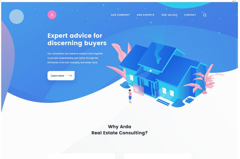 Bộ PSD thiết kế Landing Page đơn giản cho website bất động sản