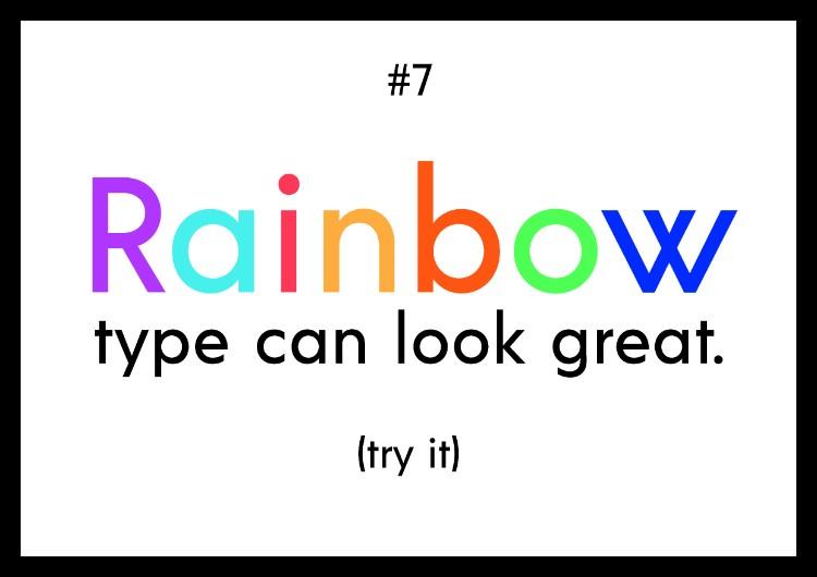 7 Nguyên tắc khi bạn kết hợp màu và kiểu chữ