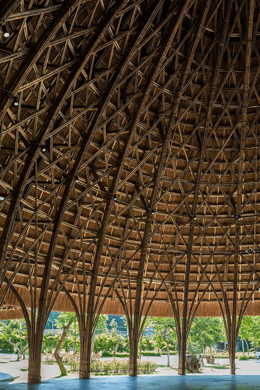 Kiến trúc mái vòm tre độc đáo tại Sơn La Kiến trúc mái vòm tre độc đáo tại Sơn La