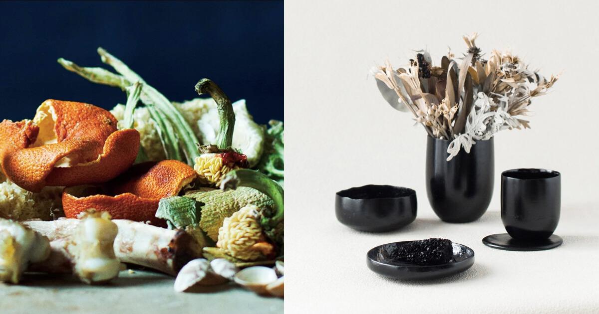 Từ rác thực phẩm thừa thành bộ đồ ăn sáng tạo của Kosuke Araki
