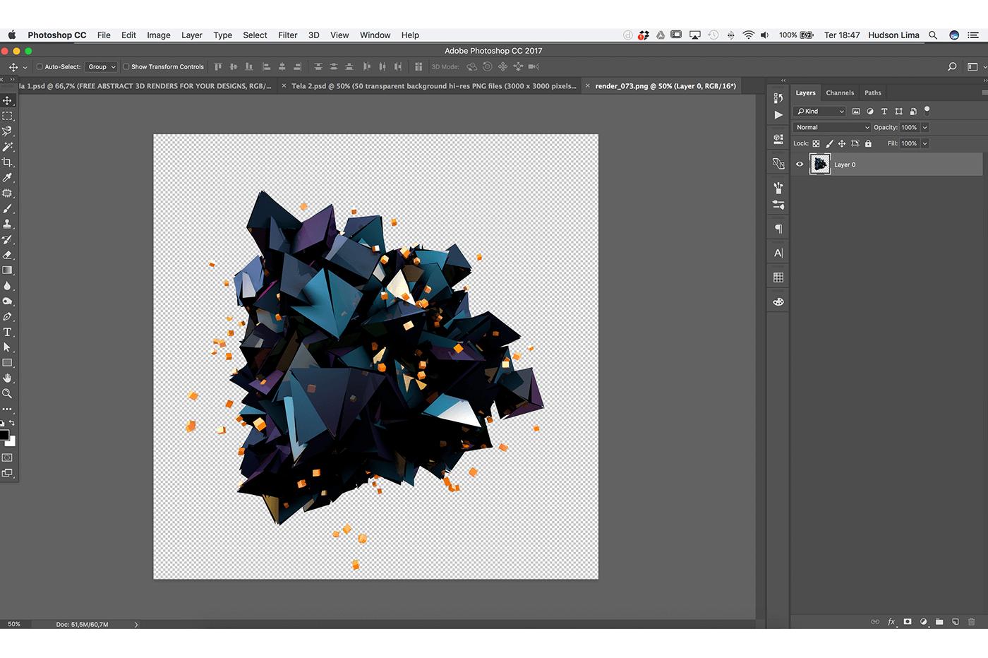 50+ Abstract 3D Shapes tuyệt đẹp cho Photoshop