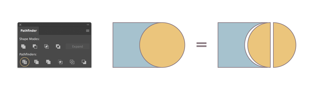 Hướng dẫn sử dụng cơ bản hộp thoại Pathfinder trong Illustrator