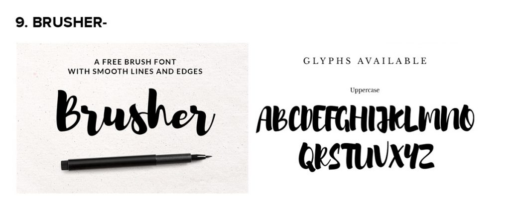 Tổng hợp 20 font chữ thiết kế miễn phí
