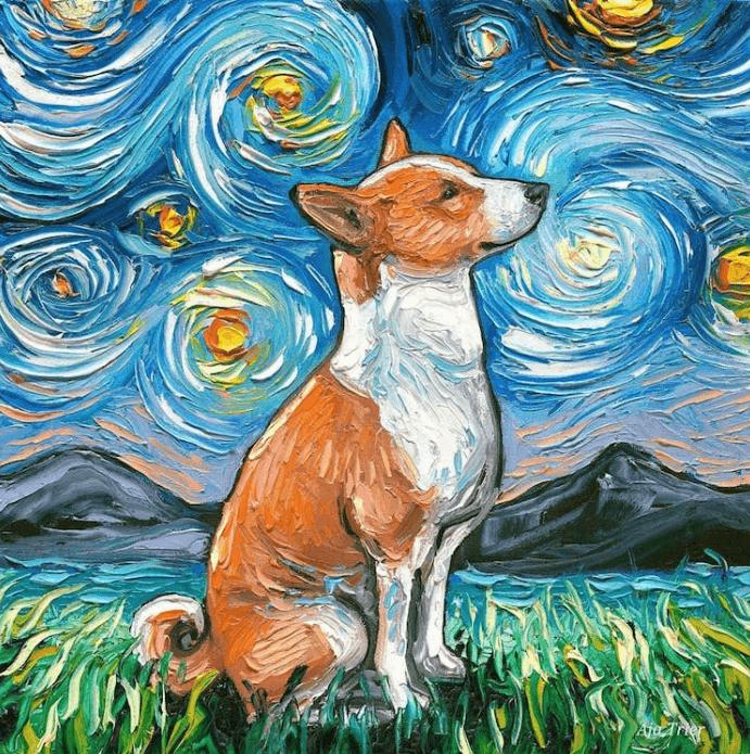 """Những chú chó đáng yêu trong Seri """"Starry Night Dogs"""" của Aja Trier"""
