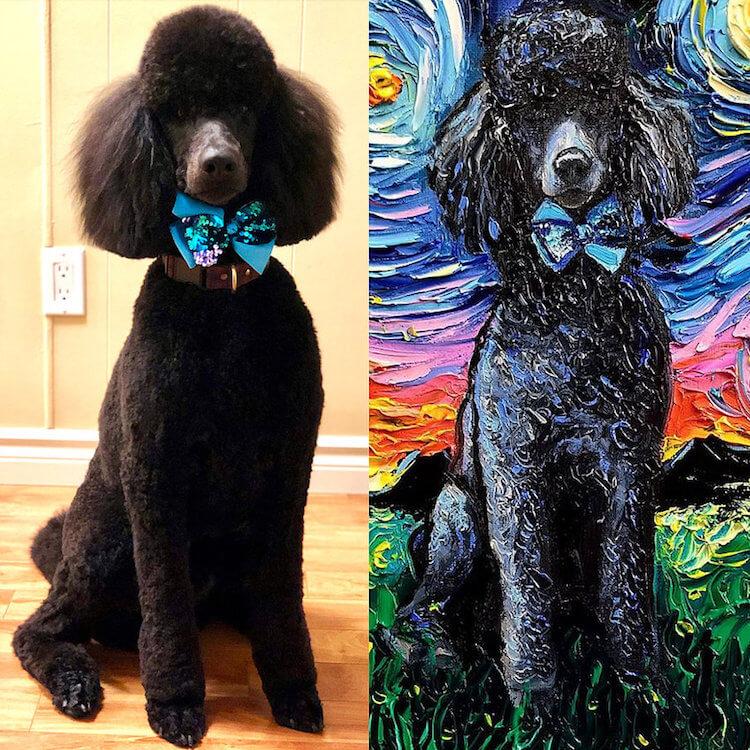 """Những chú chó đáng yêu trong Seri """"Starry Night Dogs"""" của Aja Trier Những chú chó đáng yêu trong Seri """"Starry Night Dogs"""" của Aja Trier"""