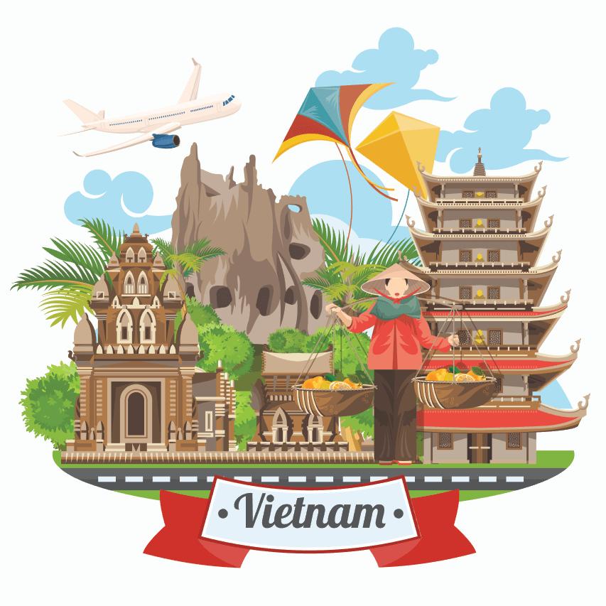 Vector du lịch Việt Nam miễn phí tuyệt đẹp
