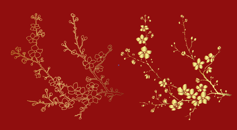 Vector hoa đào đỏ free tuyệt đẹp