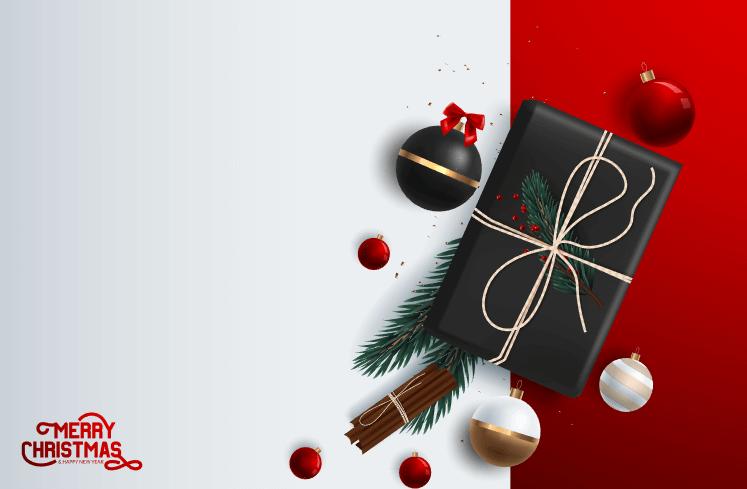 Vector Merry Christmas miễn phí
