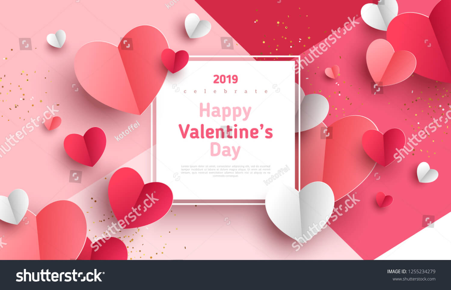 Background Vector Valentine trên Shutterstock