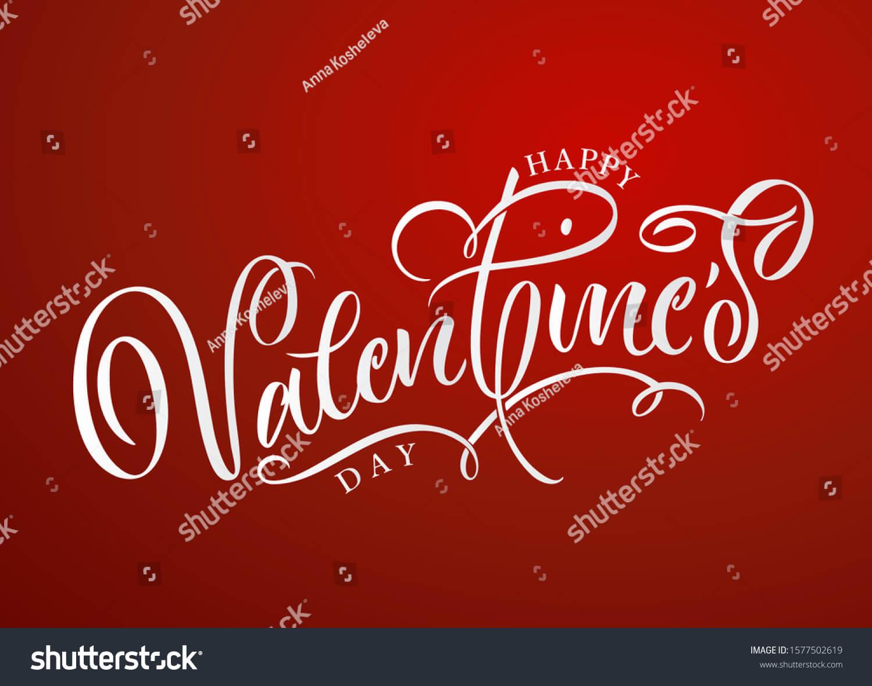 Vector font chữ Valentine trên Shutterstock