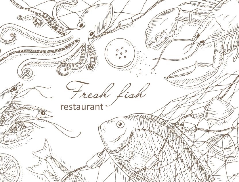 Vector hải sản trên Shutterstock - H9