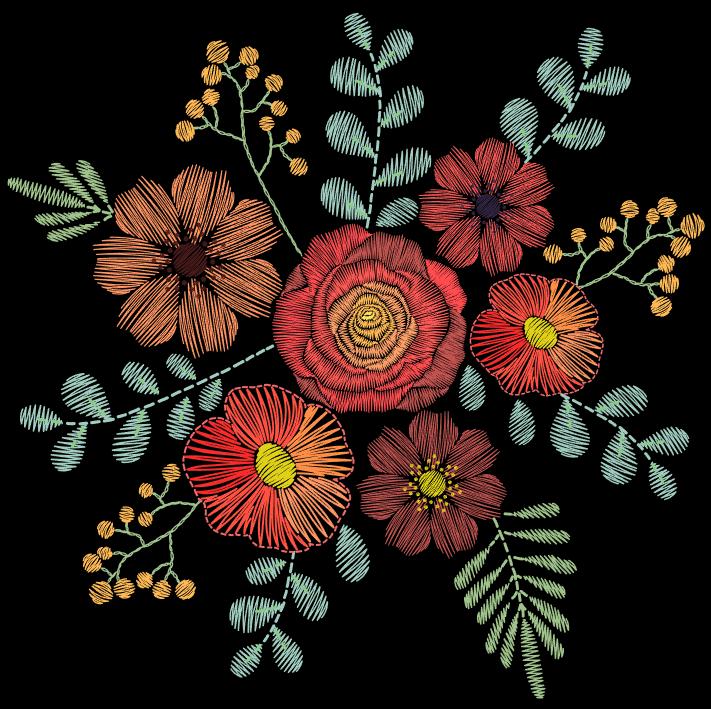 Vector hoa thêu trên Shutterstock - H6