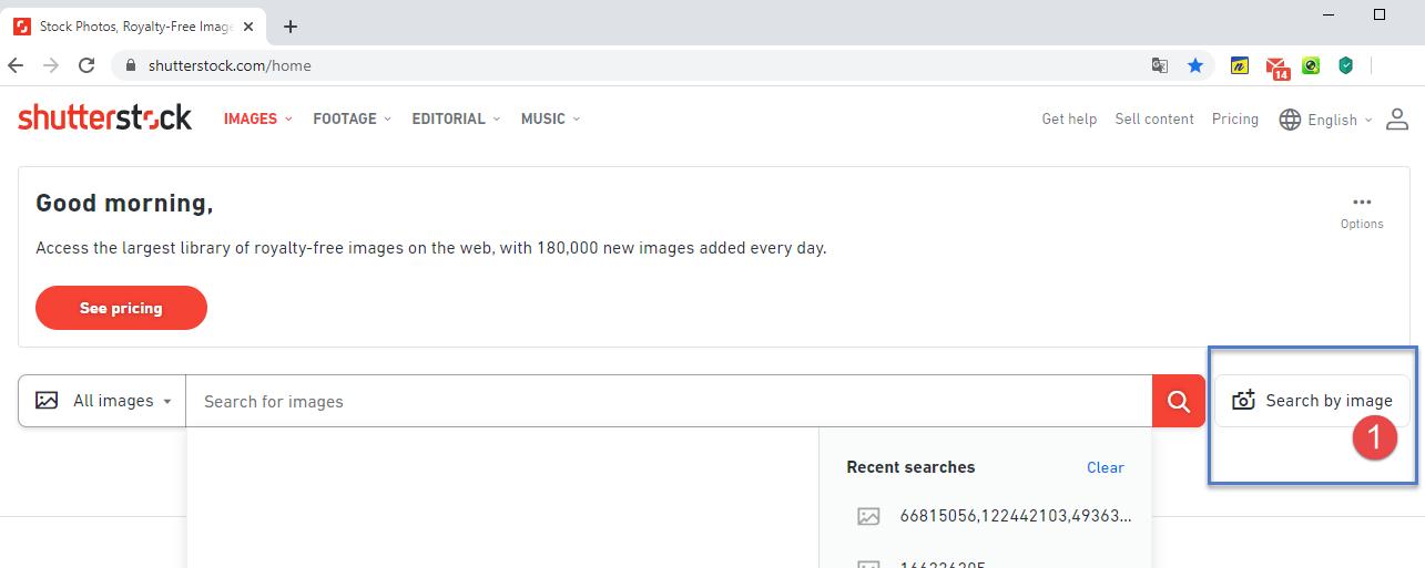 Tìm hình ảnh Shutterstock theo hình ảnh có sẵn