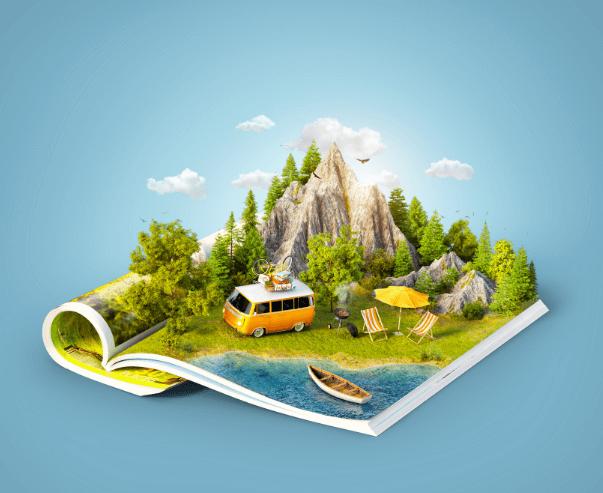 2 hình ảnh tạp chí du lịch chất lượng cao trên Shutterstock