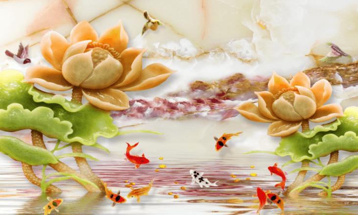 Cửu ngư quần hội - Tranh 3D chất lượng cao trên Shutterstock