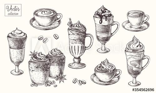 Vector cafe minh họa trên Adobe Stock